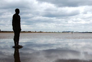 Gormley Figure, Crosby Beach, Merseyside | by buildings fan