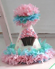 pink blue cupcake hat | by silverspoonscraps