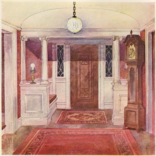 Colonial Style Hallway Illustration By I T Frary Court Flickr