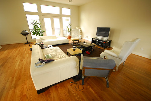 The superwide lens makes our living room look big or ma for Best lens for furniture photography