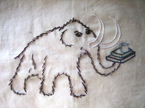 Tea towel tour 4 - wooly mammoth for antarticraft | by mochistudios