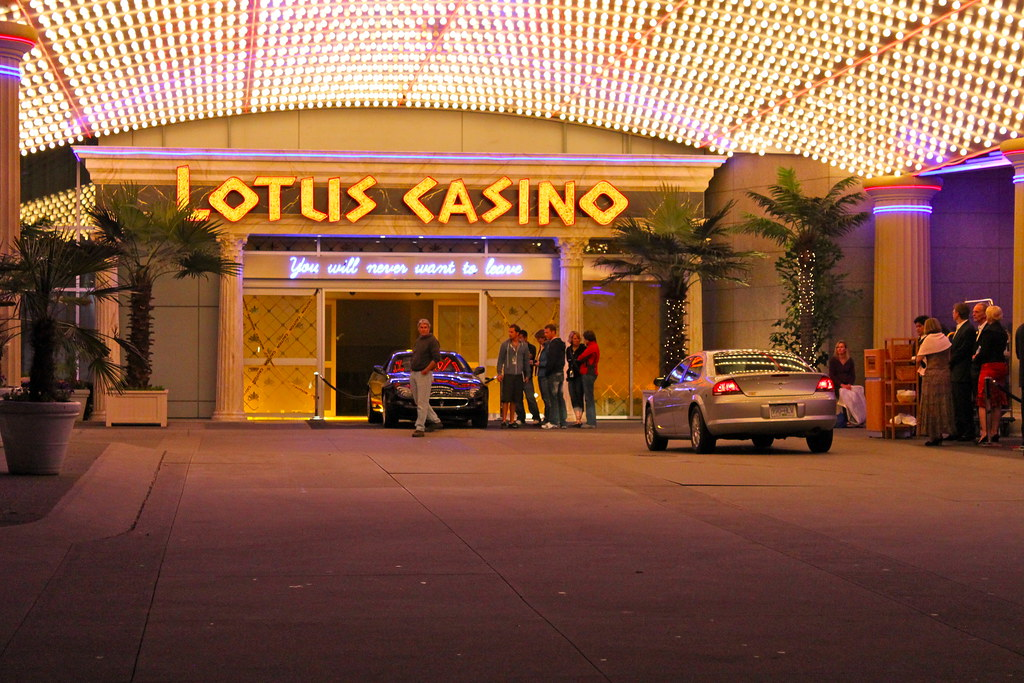 Where was the lotus casino in percy jackson filmed verre a vin cristal baccarat