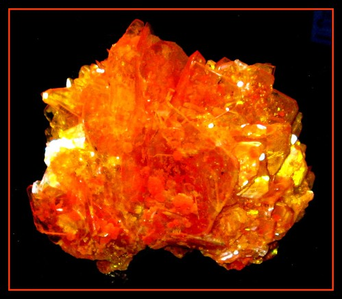Fiery Orange Mineral (Wulfenite from Mexico) in Gem Hall at Carnegie Museum in Pittsburgh, PA | by Brooklyn Bridge Baby