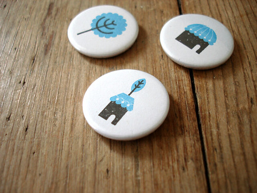 Somewhere 25mm badge set | by Studio MIKMIK
