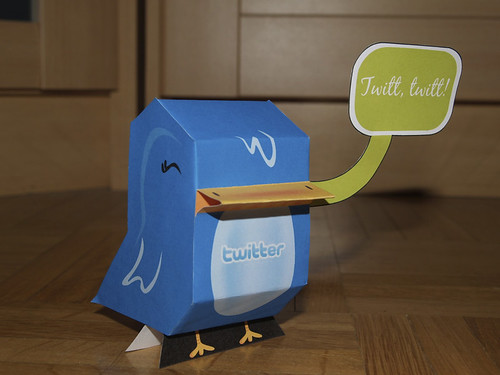 Twitter bird paper-toy | by Nerea Marta
