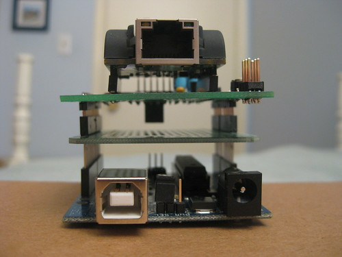 Arduino, Protoshield, and Ethernet shield | by mpeg2tom