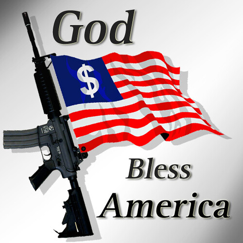 God Bless America American Flag With M4a1 Rifle And Doll Flickr