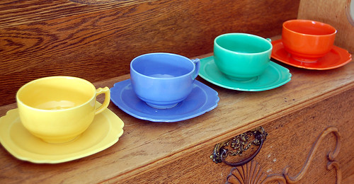 Riviera cups and saucers c. 1940's | by Mark...L