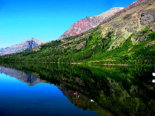 Reflections on Two Medicine Lake, Glacier National Park, Montana | by moonjazz