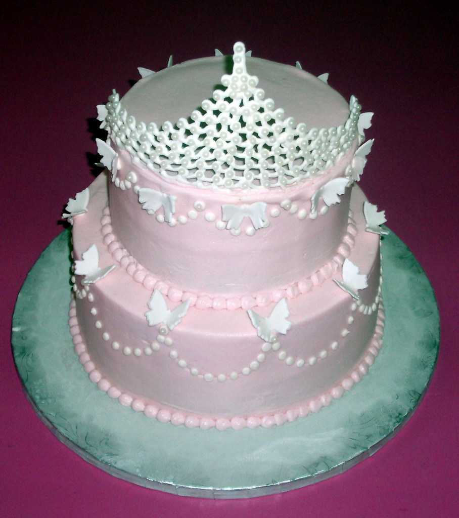 Princess Pearl Tiara Birthday Cake 100 Edible Tiara Made Flickr