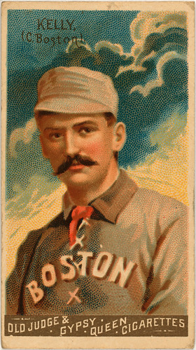 King Kelly, catcher, Boston Beaneaters, 1888 | by trialsanderrors