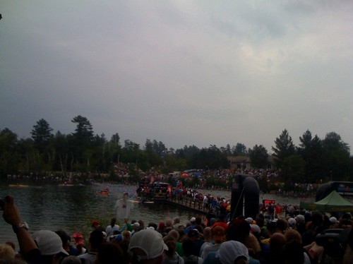 Swim start, 2008 IronMan Lake Placid | by dfeather