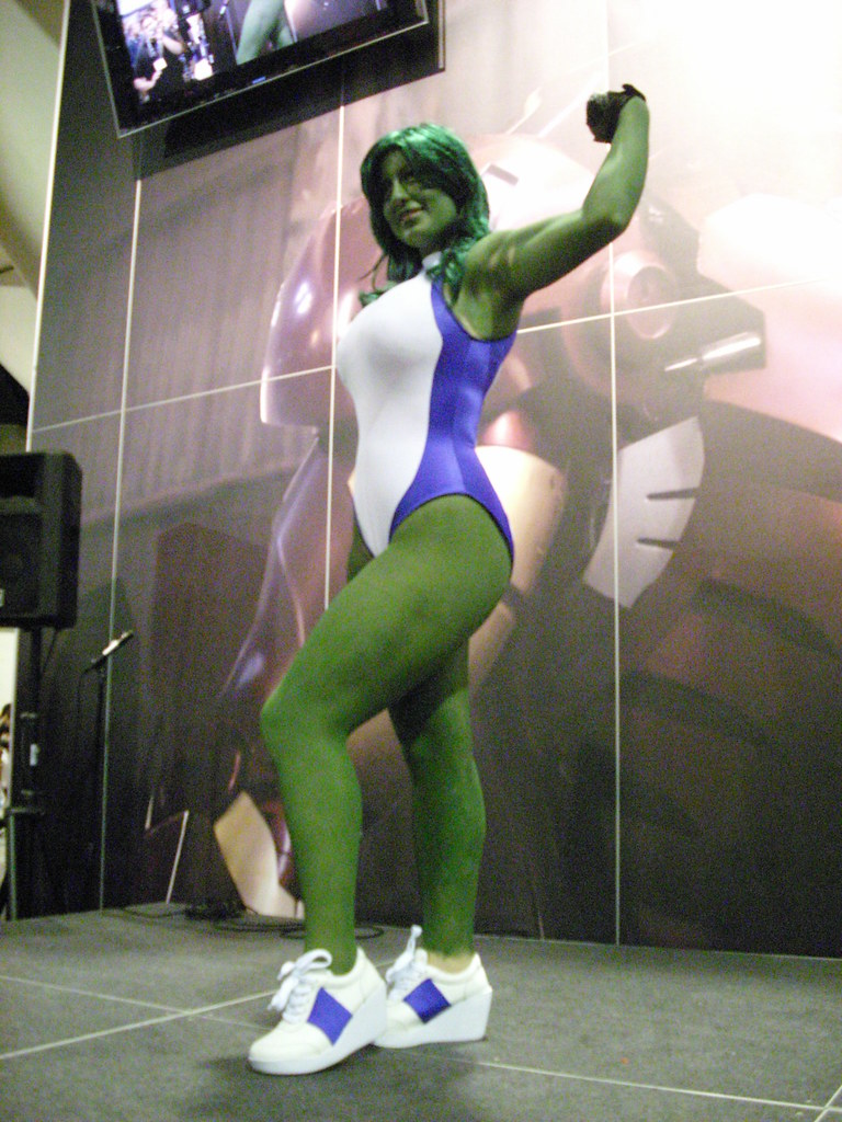 ... Marvel Costume Contest She-Hulk | by Marvel Entertainment & Marvel Costume Contest: She-Hulk | On stage at the Marvel Cou2026 | Flickr