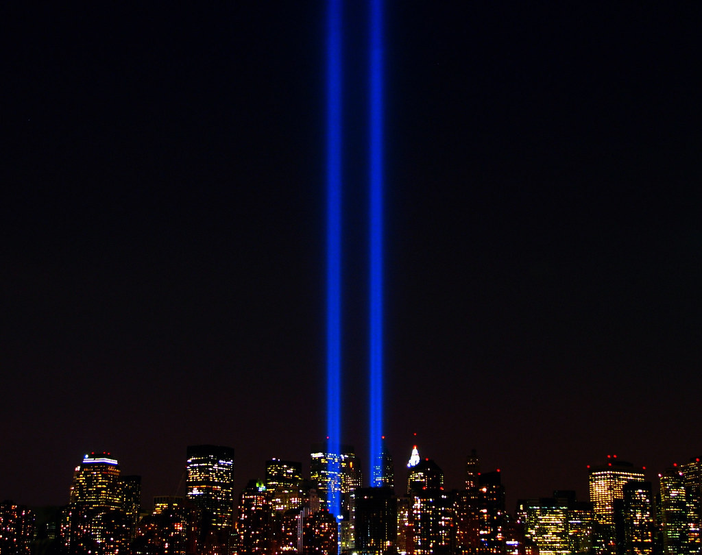 ... World Trade Center Lights .. New York City ...9/11/