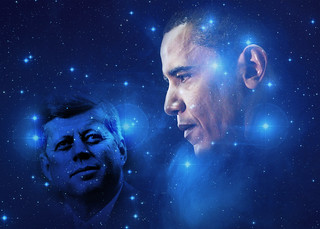 Passing of the Torch, from President John F. Kennedy to President Elect Barack Obama, Written in the Stars | by Beverly & Pack