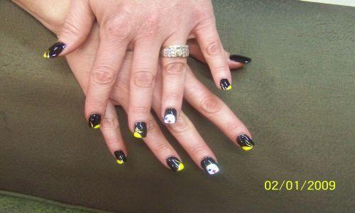 Steelers Nail Art Manicure Steelers Nail Art Manicure 2 Flickr