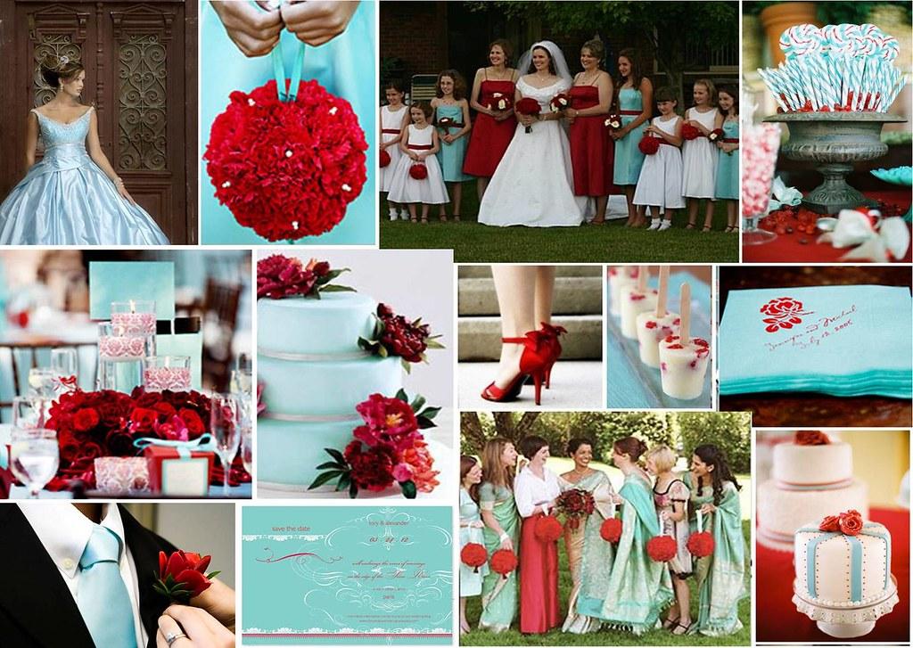 Aqua Red Wedding Theme Check out more inspiring ideas li Flickr