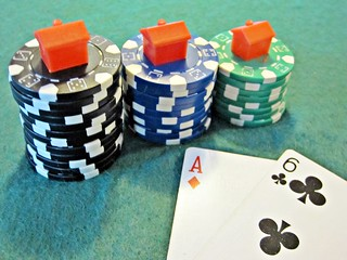 Casino Chips with houses on top | by Images_of_Money