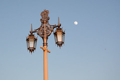 Streetlight and moon, Kemptown, Brighton | by moluki