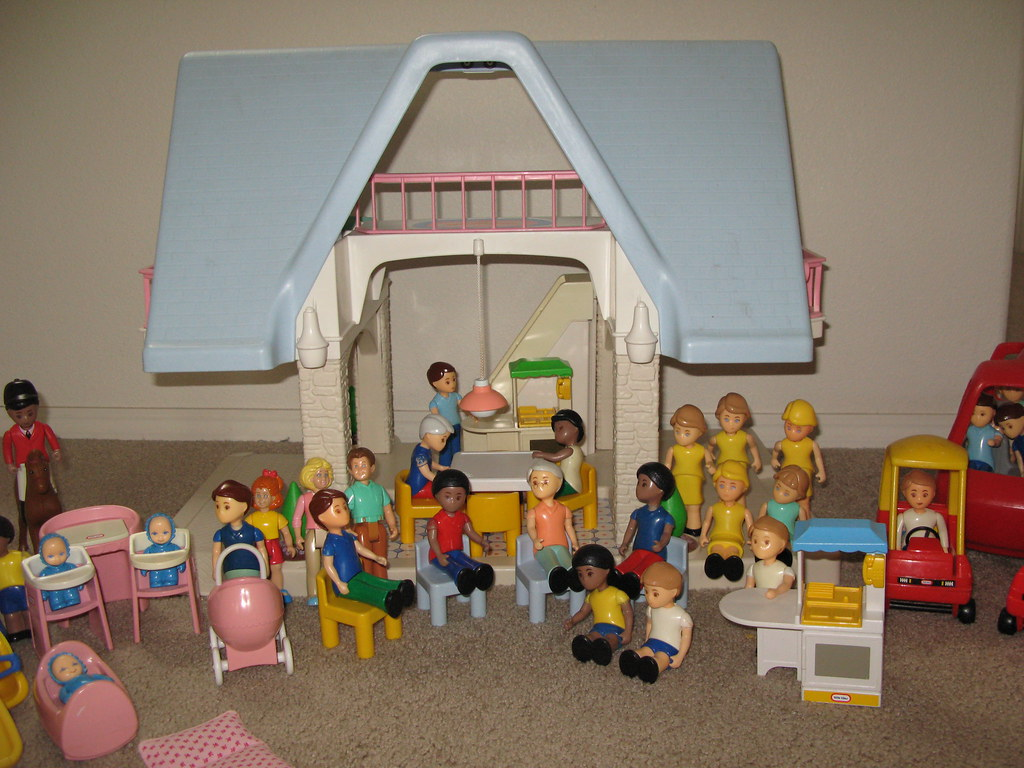 Elegant ... Little Tikes (Tykes) Doll House, Furniture, People, And Horses | By