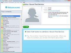 Click 'call' button to call Echo / Sound Test Service. | Flickr