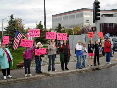 Alaskan women protest Palin | by Stop McPalin