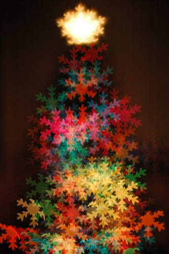 snow flake bokeh christmas tree | by OSUBeaver13