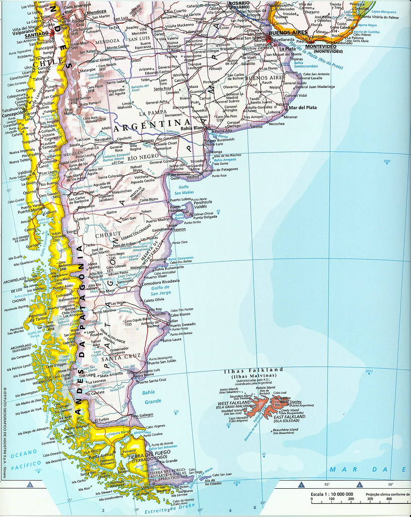 Mapa Parcial América Del Sur América Do Sul South Amer Flickr - Sur america map