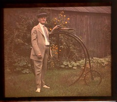 Charles Zoller with bicycle | by George Eastman House