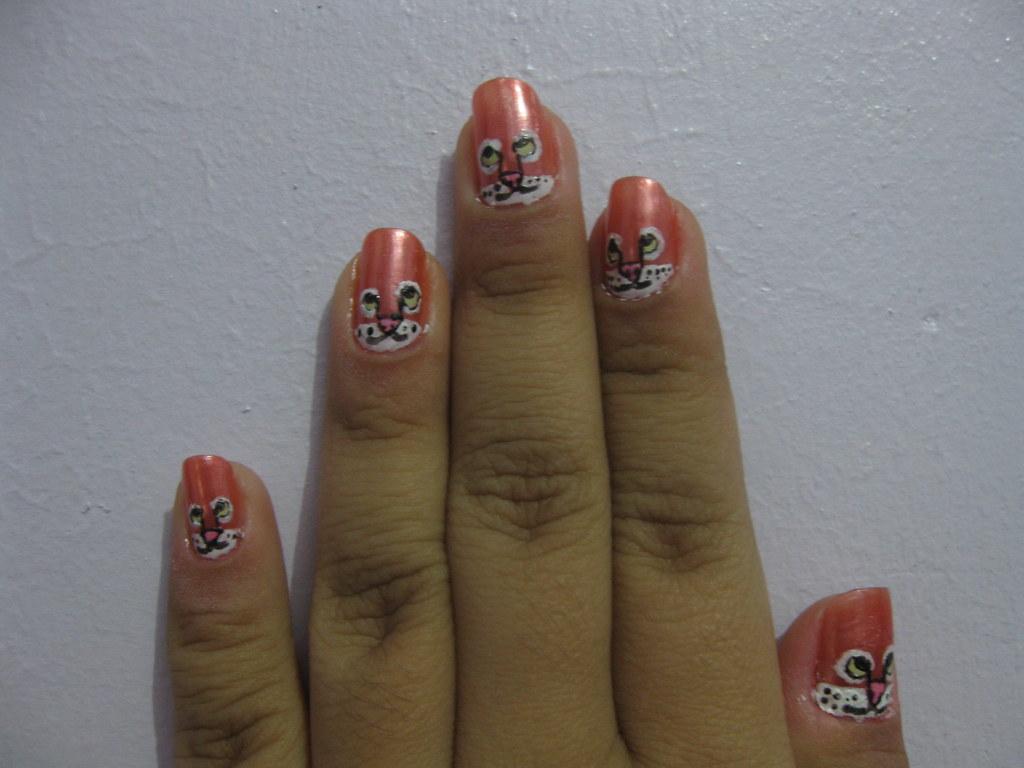 Nail Art Design Tiger Nail Art Design Maria Katrina Tiong Flickr
