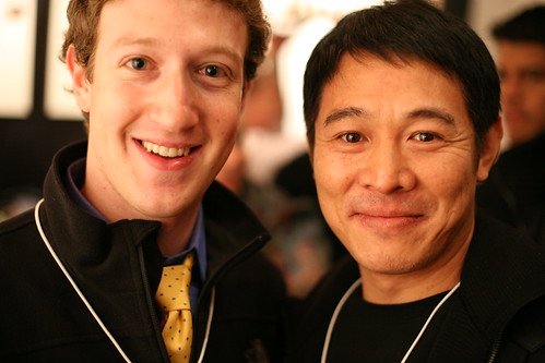 Mark Zuckerberg, founder Facebook, and Jet Li, famous martial arts star | by Robert Scoble