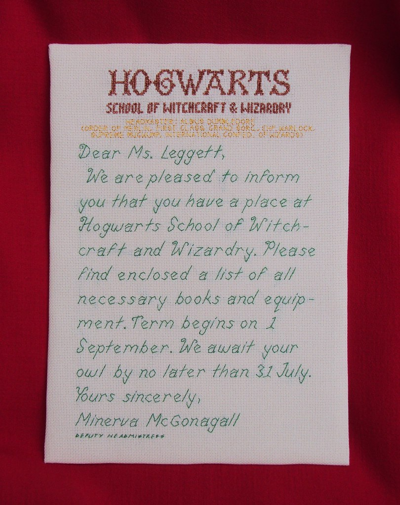 hogwarts acceptance letter This is what I made for Lisas – Hogwarts Acceptance Letter