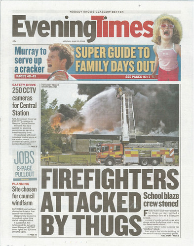 Old Littlehill School fire, Evening Times (2008-06-30) | by gdelargy