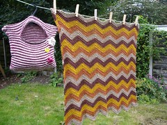 blanket on the washing line | by knitfaced