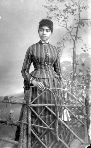 Woman in striped dress | by State Library and Archives of Florida