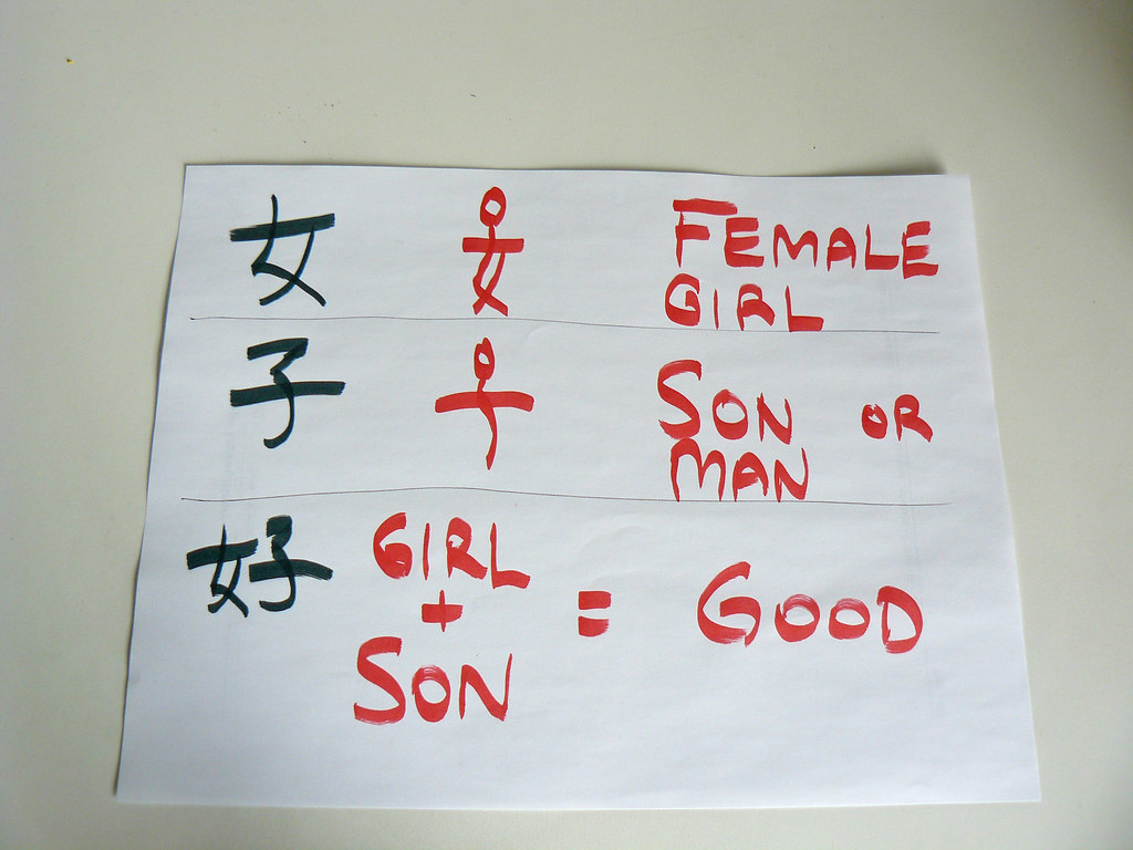 Chinese Words Girl Boy Girl Boy Good To My Surprise Flickr