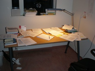 My desk, while writing a paper | by gudmd.haralds