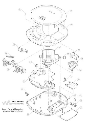 Walkman Assembly Diagram