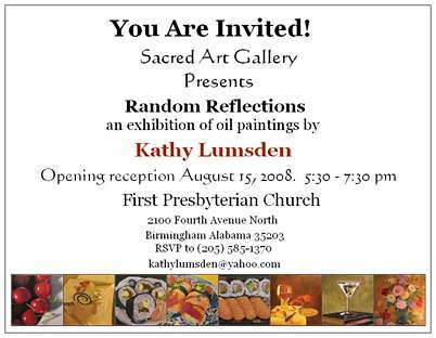Invitation to solo exhibition opening reception invitation flickr invitation to solo exhibition opening reception by kathylumsden stopboris Choice Image