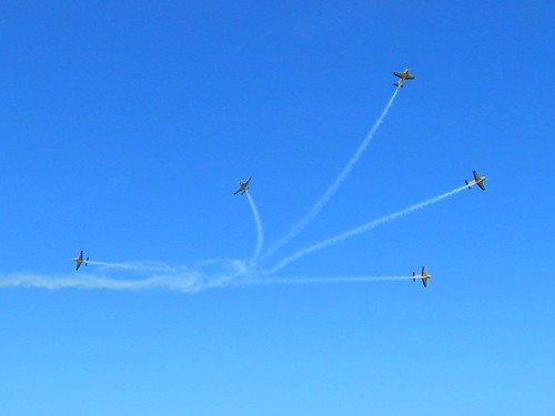 Aerobatics and Vapour Trails | by Mary Faith.