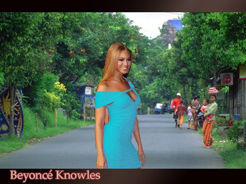Beyonce Knowles Sexy On The Street Wallpaper Desktop Nude -1329