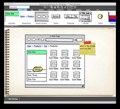 Balsamiq Mockups For Desktop - * New Mockup | by natekoechley