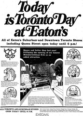 Vintage Ad #551: Today is Toronto Day at Eaton's | by jbcurio
