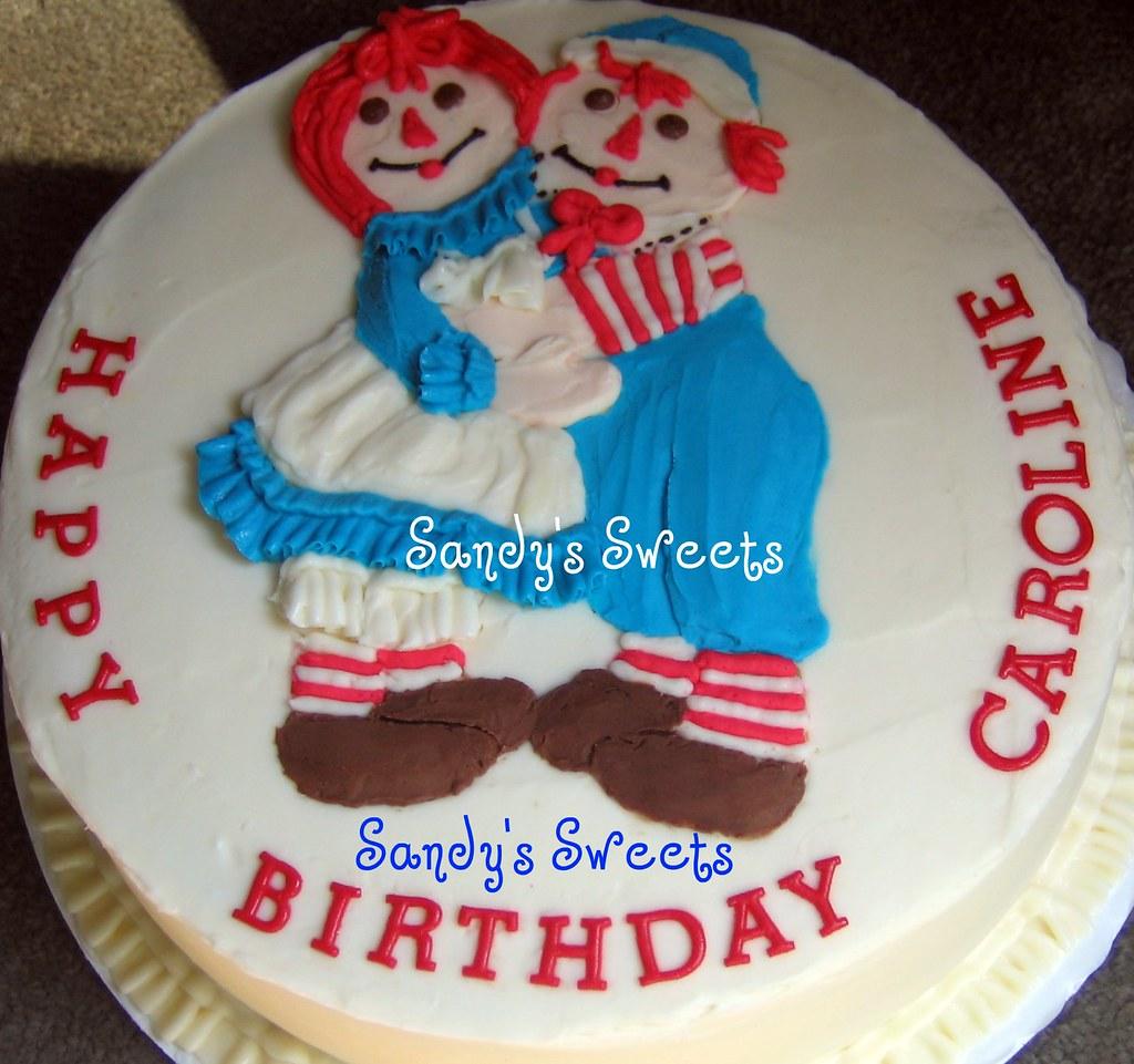 Raggedy Ann Andy Little Girls Birthday Cake With Raggedy Flickr