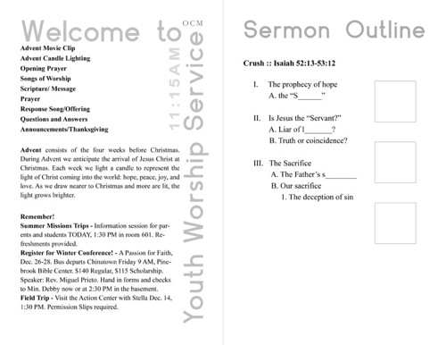 youth service bulletin designs final by weapong