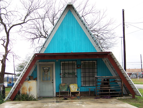 front view of blue a frame home thien gretchen flickr cheap cabin kits starting at 3860 shtf amp prepping central