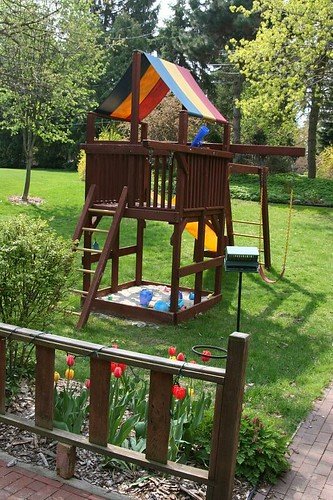Backyard Play Structure backyard play structure | part of the view from our back por… | flickr