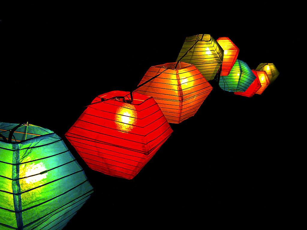 tiki lighting. Perfect Lighting Tiki Lights Floating In The Night  By Killbyte For Tiki Lighting