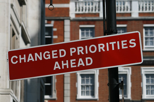 Changed priorities ahead | by Jonas B