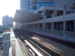 SkyTrain arrives at New Westminster Station | by sillygwailo